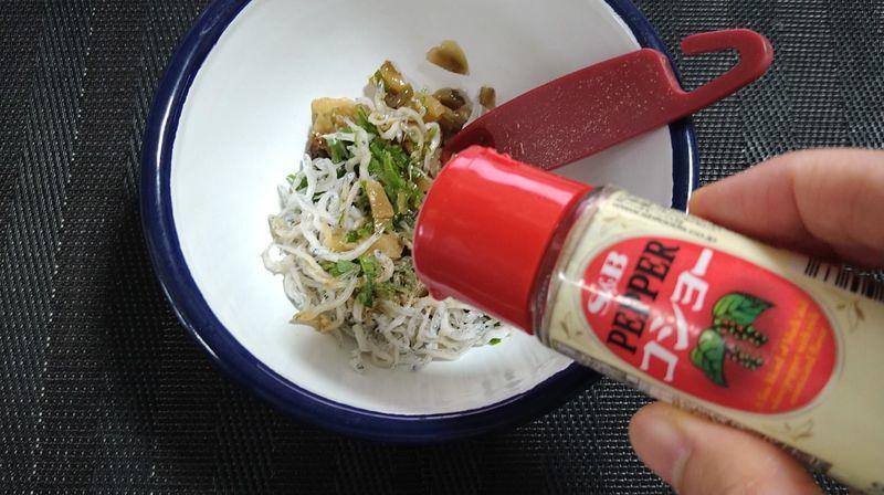じゃこナッツの漬物丼_5