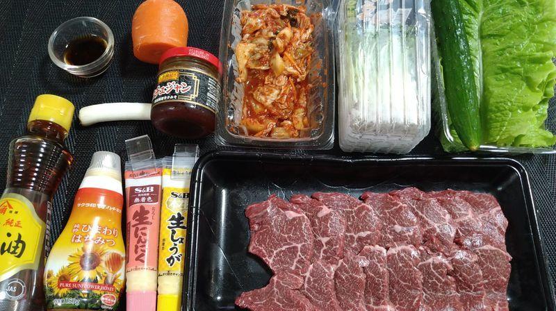 フライパンで特製つけだれの焼き肉_材料