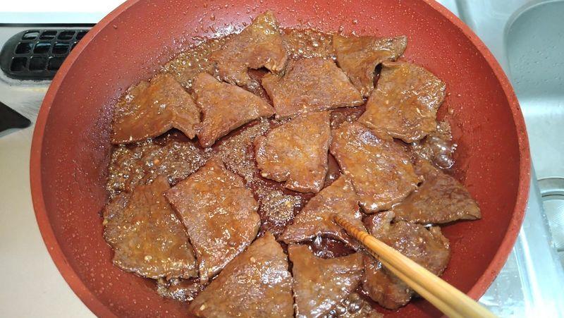フライパンで特製つけだれの焼き肉_7