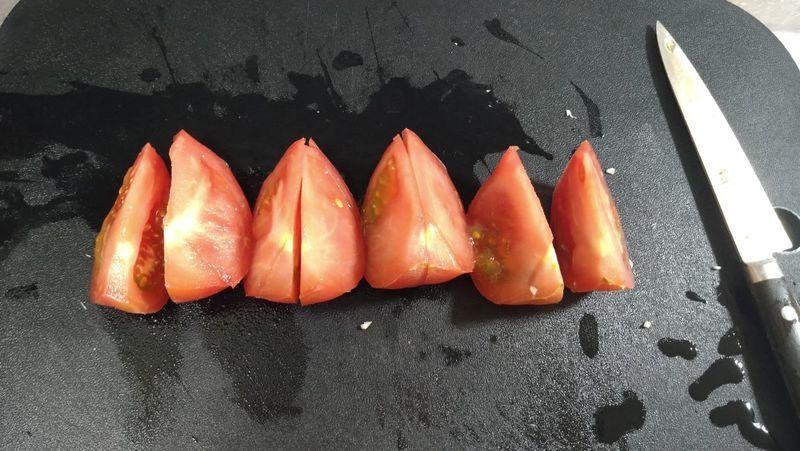 トマトと卵のオイスターあんかけ_1