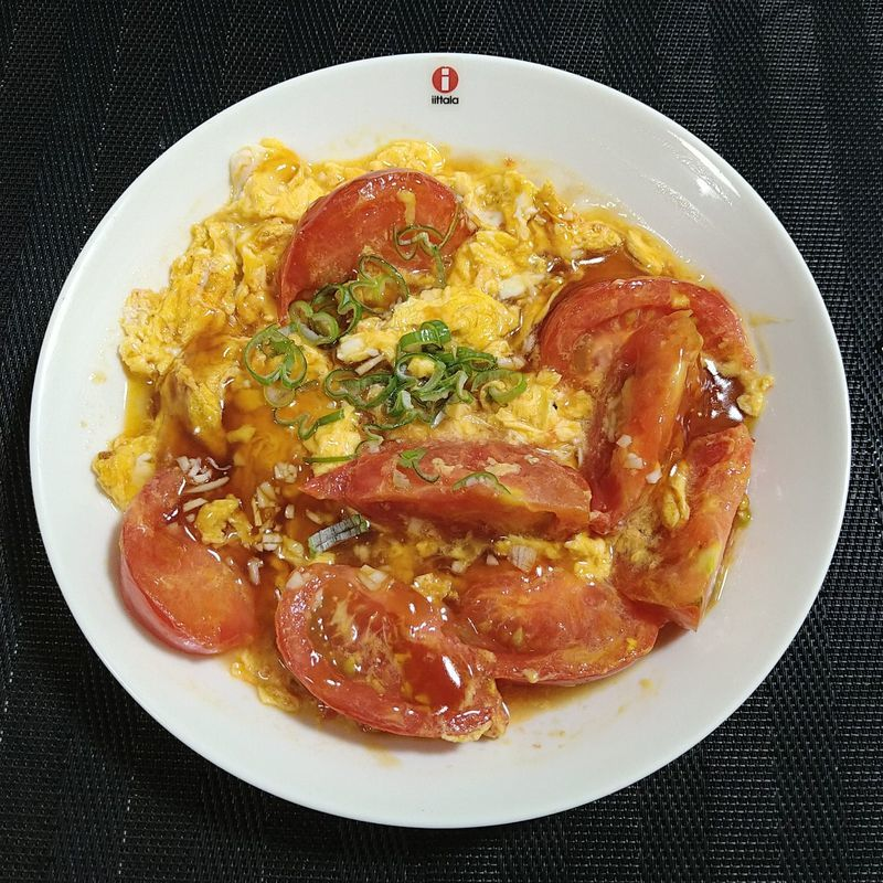 トマトと卵のオイスターあんかけ_完成
