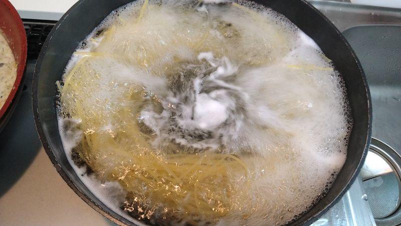 きのこクリームパスタ_1