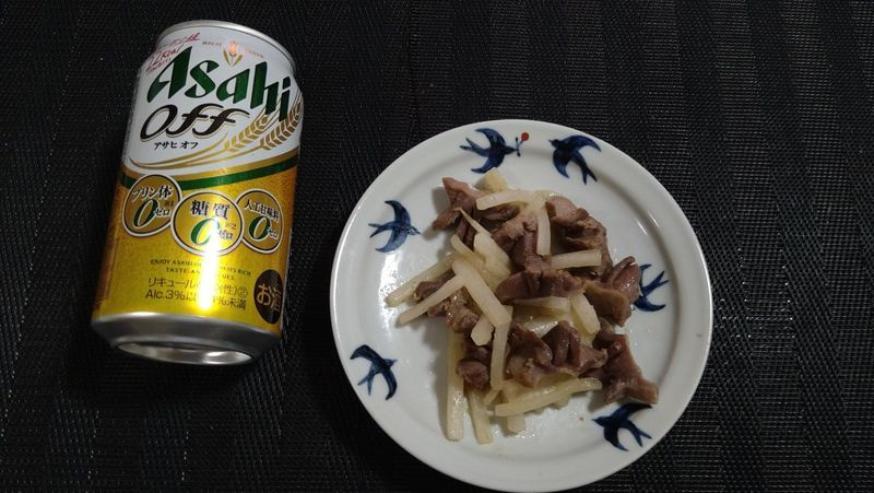 砂肝と夏大根のゆずこしょう炒め_食卓