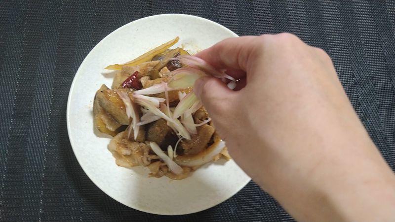 豚肉となすの甘辛炒め_10