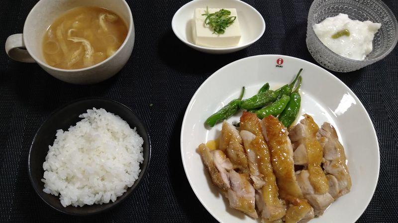 チキンのカンタン酢テーキ_食卓