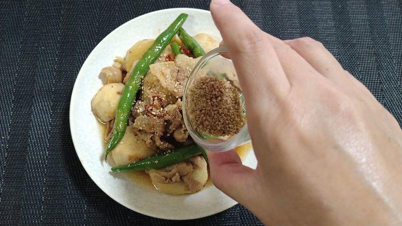 里芋と豚バラのオイスター煮_9