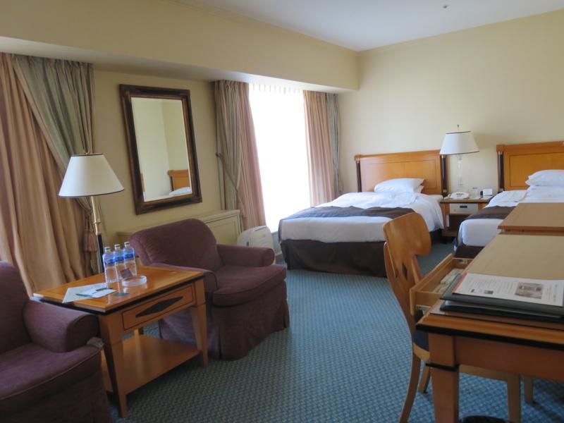 リーガロイヤルホテル、デラックスツインの写真。