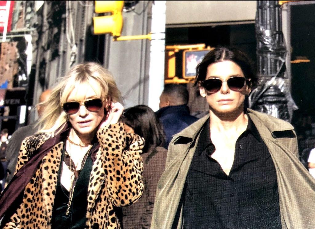 オーシャンズ8、サンドラブロックとケイト・ブランシェット写真