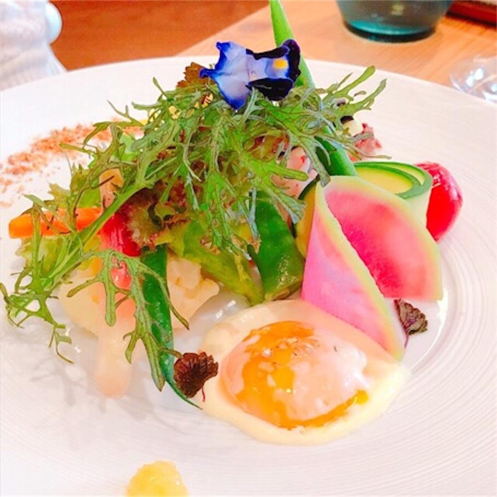 モリエールカフェのサラダ写真。