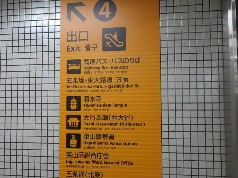 清水寺の駅構内