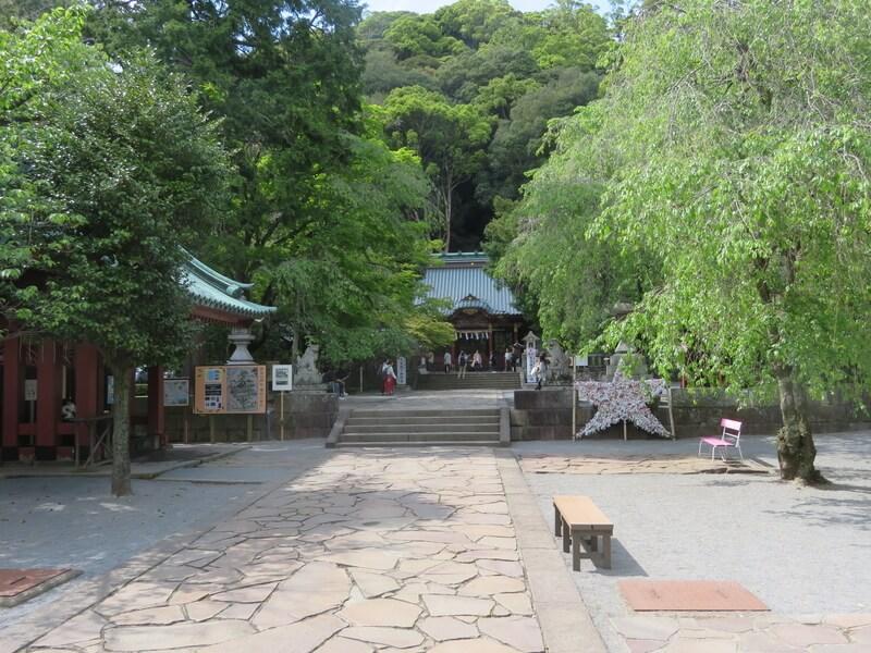 伊豆山神社境内の写真