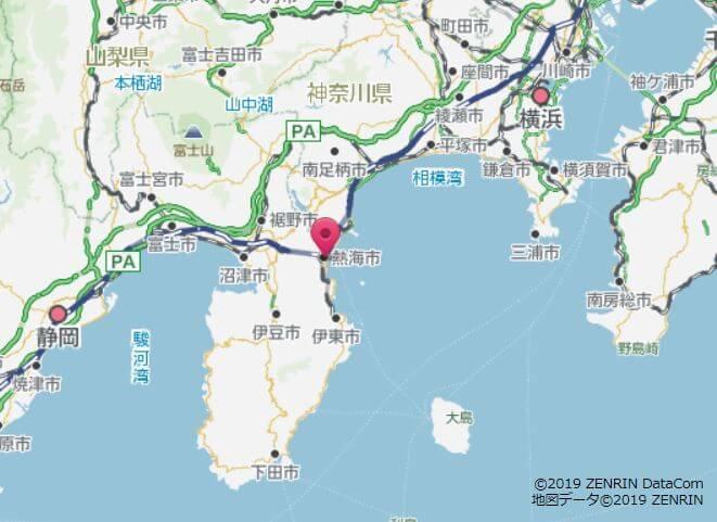熱海の地図