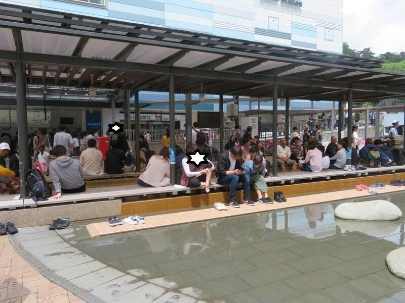 熱海駅前足湯の写真