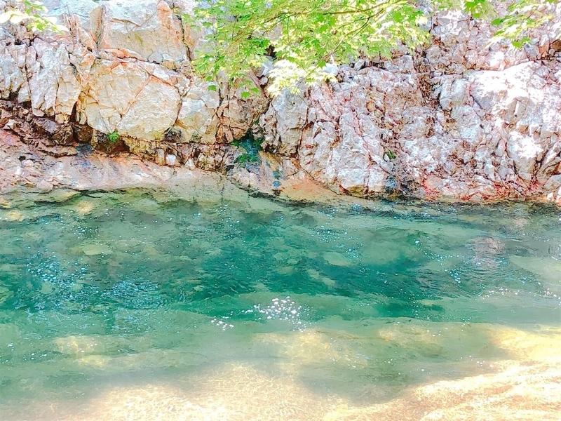 大滝ナイアガラの滝青い水の写真