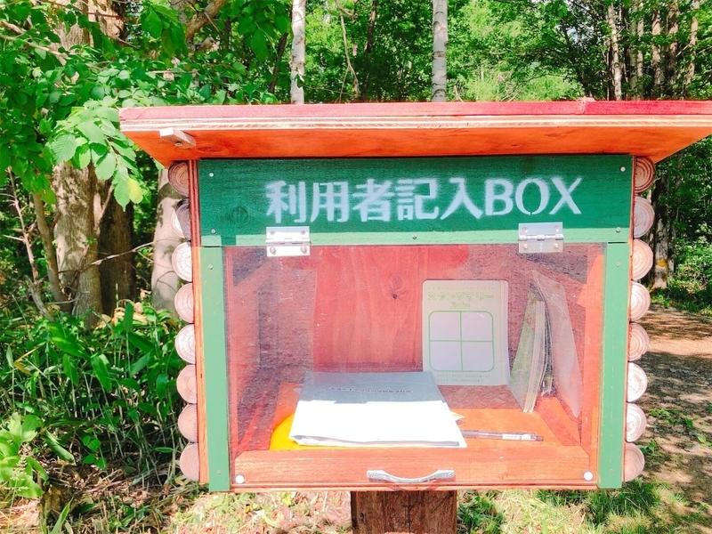 大滝ナイアガラの滝入り口にある、「利用者記入ボックス」の写真