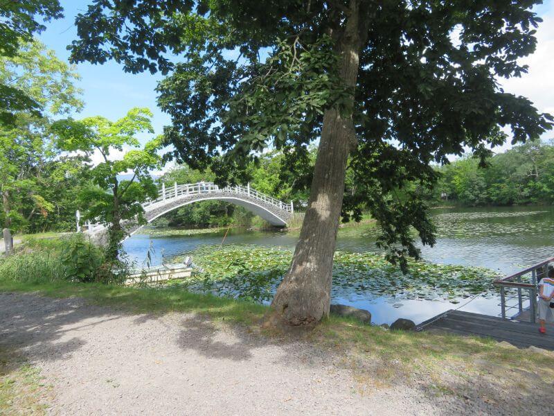 ターブル・ドゥ・リバージュから眺めた橋の写真