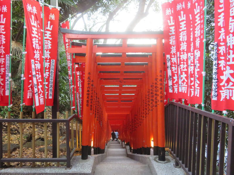 日枝神社、千本鳥居の写真
