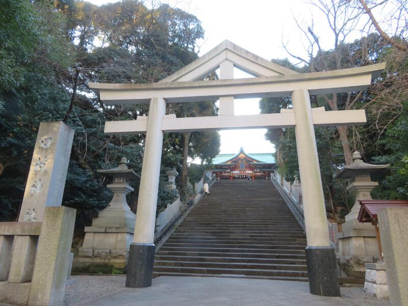 日枝神社、国会議事堂側の鳥居の写真