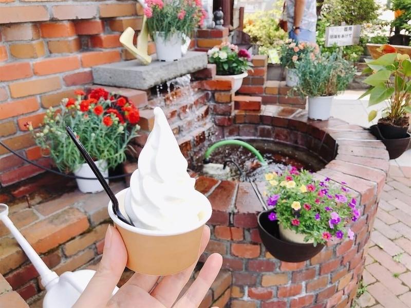 あいチュランドのソフトクリーム写真