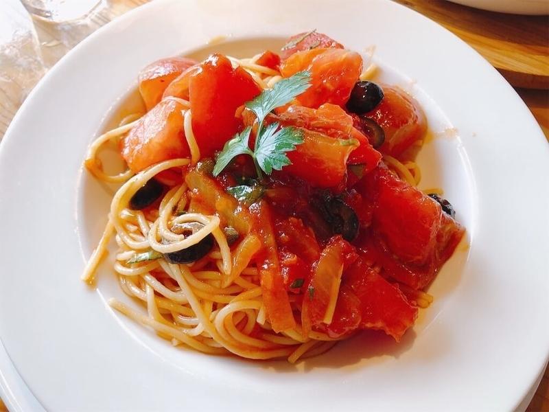 ファームレストランハーベストのトマトの冷製パスタの写真