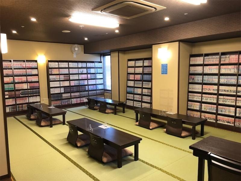 万葉の湯町田店漫画コーナーの写真