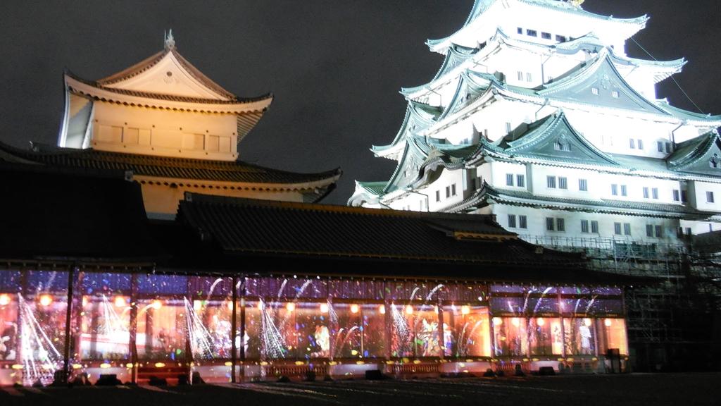 名古屋城・プロジェクションマッピング