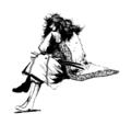 [創作][イラスト][モノクロ]氷の女王様