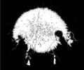 [創作][イラスト][モノクロ]火花三姉妹との別れ