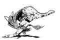[創作][イラスト][モノクロ]冬の舞い手