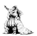 [創作][イラスト][モノクロ]冬の語り手