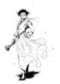 [創作][イラスト][モノクロ]花職人の魔女