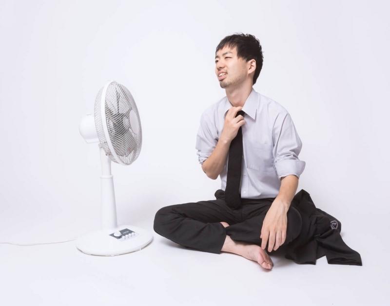 真夏で暑い