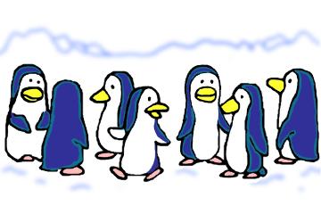ペンギンの寄り合い