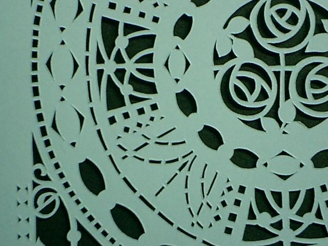 10センチ角の切り絵細工の接写例その3