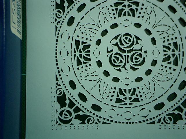 10センチ角の切り絵細工の接写例その2