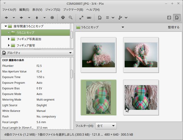「pix」の管理画面。デジカメからの写真の取り込みも簡単です。