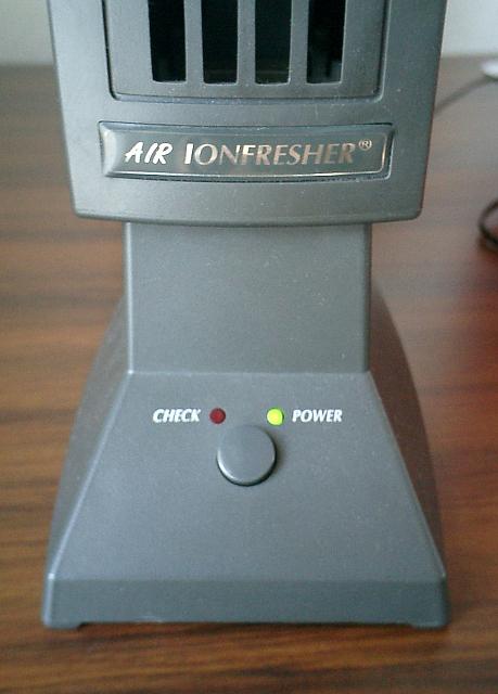 電源のオンオフスイッチ部分のアップ写真