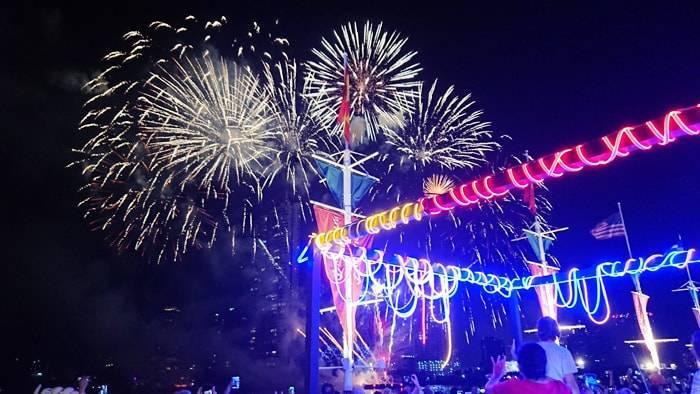 バンコク 新年の花火をアジアンティークで見る方法