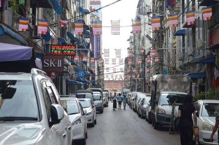 ヤンゴンのダウンタウンの紹介