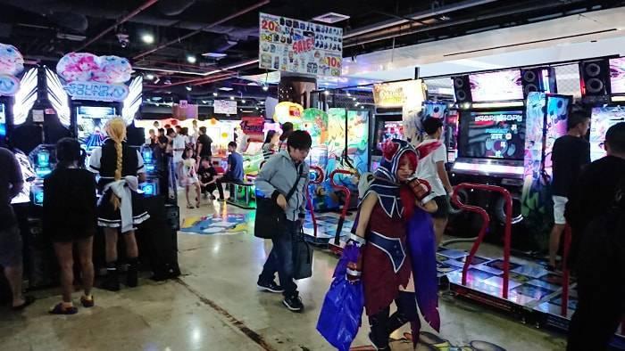 バンコク MBKのゲームセンターの紹介