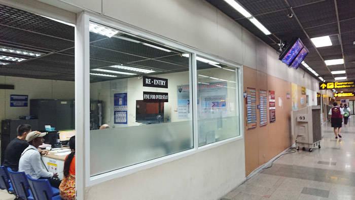 ドンムアン空港でリエントリーパーミットを取得する方法