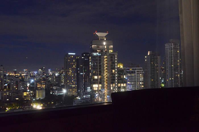 ホテル・ニッコー・バンコクから見る夜景