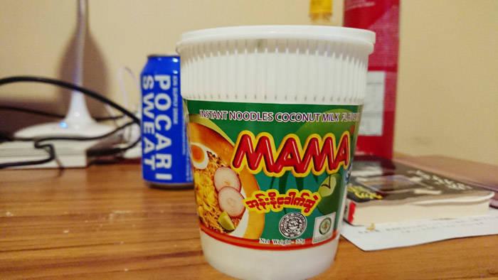 ミャンマーのカップヌードル MAMA(ママー)