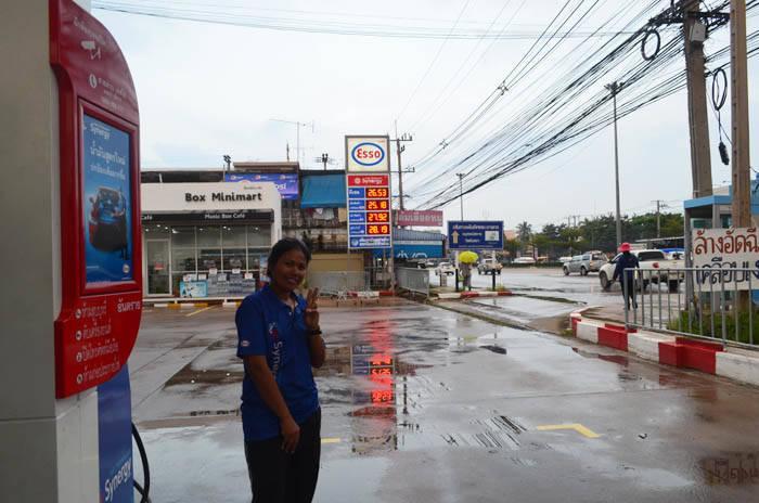 アユタヤのガソリンスタンド