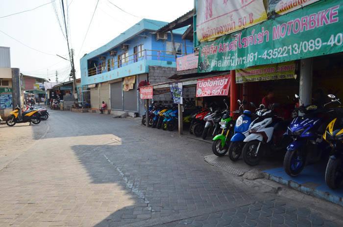 ラン島のレンタルバイク屋