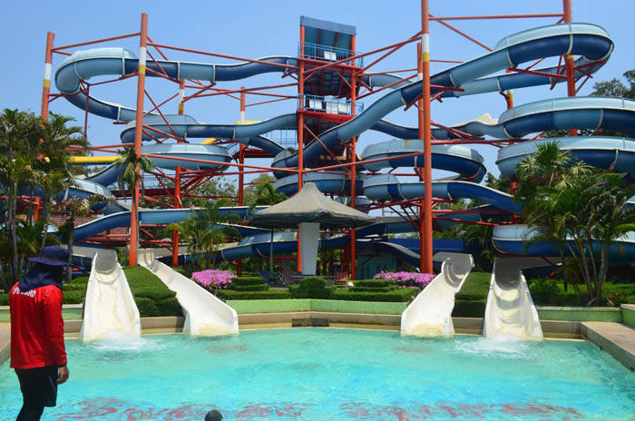 サイアムアメージングパークのウォータースライダー  Siam Amazing Park