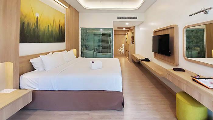 サムイ島のホテル チャバ カバナ ビーチ リゾート デラックスヴィラの部屋