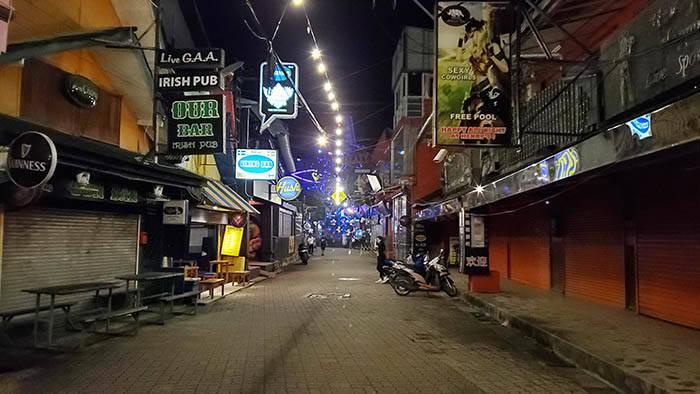 コロナ過中のサムイ島のマンゴーストリート