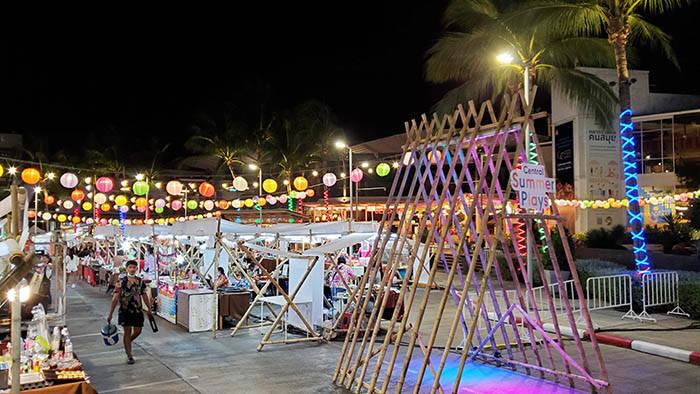 サムイ島 セントラルフェスティバルのナイトマーケットの紹介
