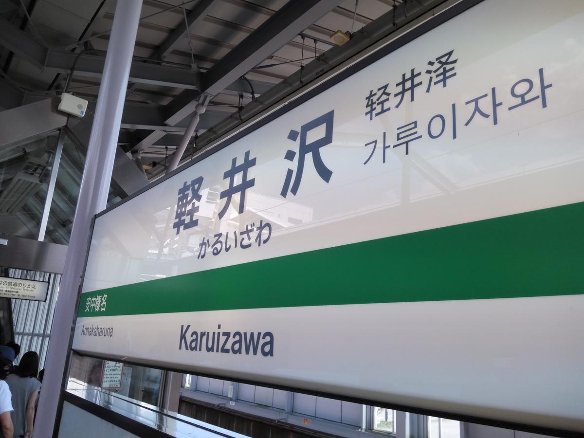 新幹線の軽井沢駅